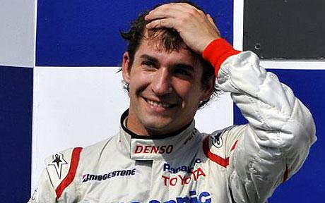Timo Glock in happier times - on the podium for Toyota